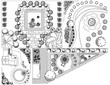 Collections od  Landscape Plan with treetop symbols - 63429659