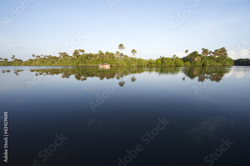 Remote Brazilian River Calm Reflection
