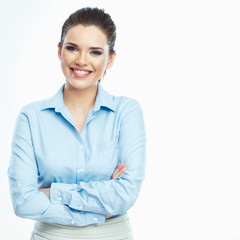 Smiling business woman portrait.