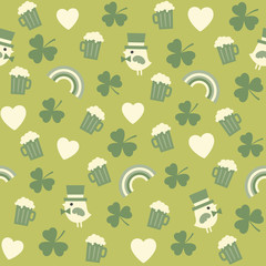 seamless green background pattern for st patricks day