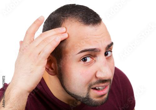canvas print picture Mann mit mit Haarausfall