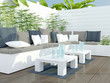 Outdoor patio seating area. - 63430441