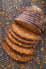 Tasty fresh bread with sunflower seeds