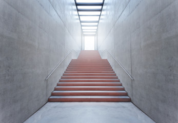 The red stairs to success