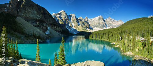 Fotobehang Meer Lake Moraine, Banff national park