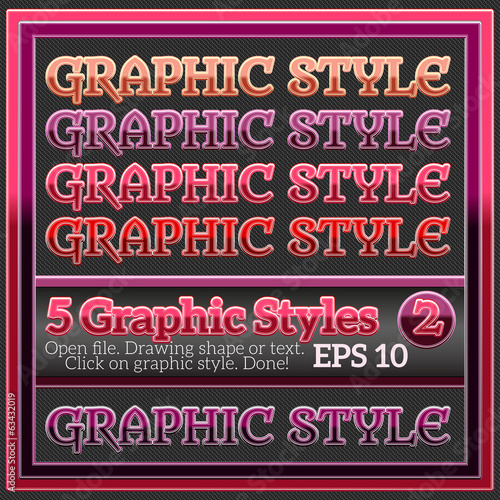 Original Graphic Styles for Various Design.