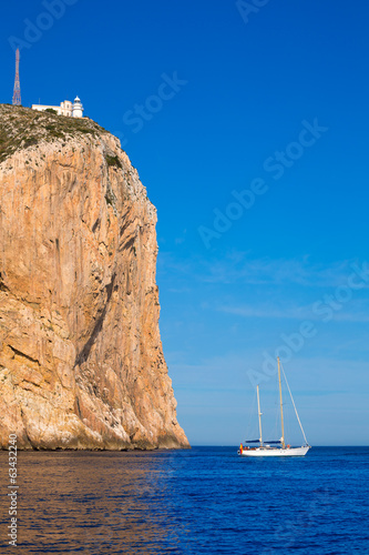 Cabo de San Antonio cape in Javea Denia at Spain