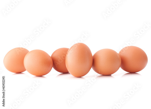 Egg isolated on white background cutout