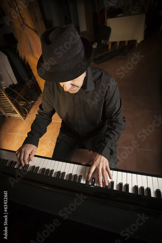 Pianist playing the piano