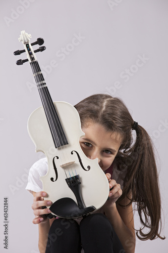 Child with a violin