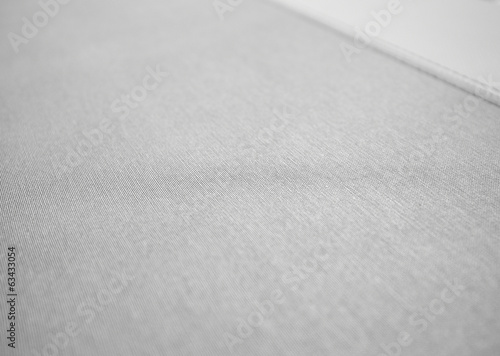 Tuinposter Stof black and white sewing leather texture