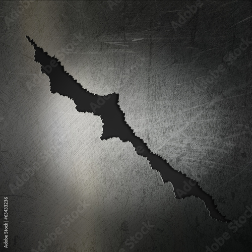 Cracked grunge metal background
