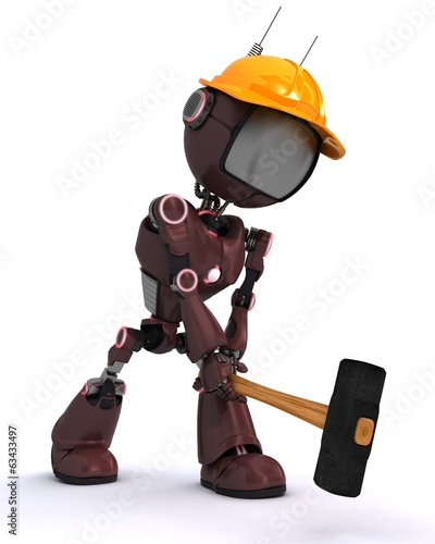 android builder with a sledgehammer