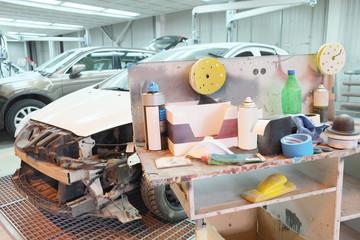 a car repair garage