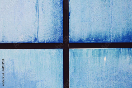 Blue wall abstract background