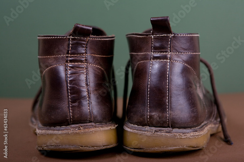 canvas print picture Old brown boots