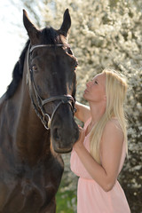 horse and blonde