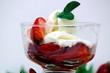 fragole con gelato