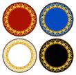 Thai new style gold circle frame