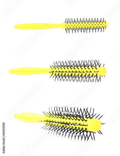 comb on white background