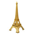 3d golden  Eiffel Tower metallic