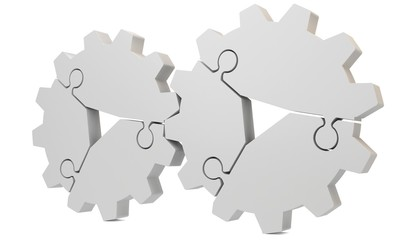 3d blank puzzle gear