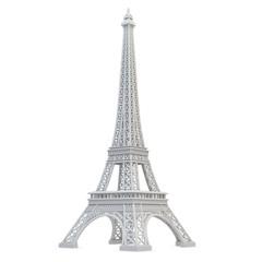 3d Eiffel Tower metallic