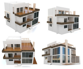 3d collection modern house