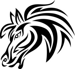 Horse face tribal