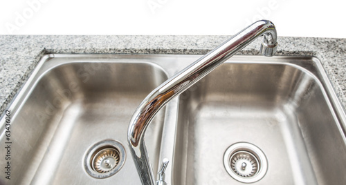 Kitchen sink with granite surface counter