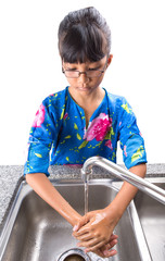 Young Girl Washing Hands