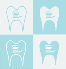 Tooth set of symbols
