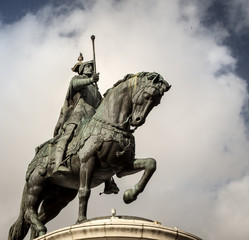Statue of a king on horseback
