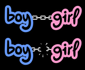 Boy and girl chain
