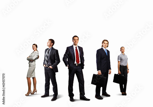 canvas print picture Group of businesspeople
