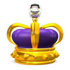 Front View Of Crown With Big Diamond