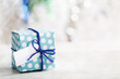 Leinwandbild Motiv Small handmade gift box