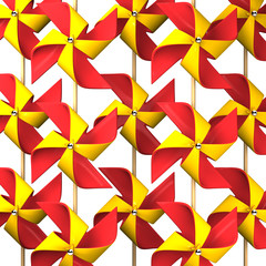 Some Red Yellow Pinwheel For Background