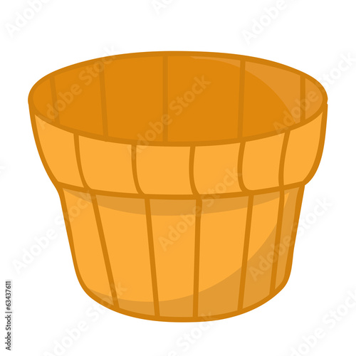 wood bucket isolated illustration