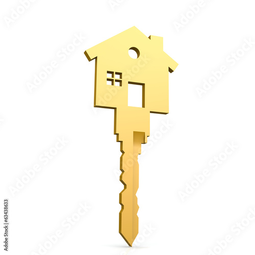 House key isolated