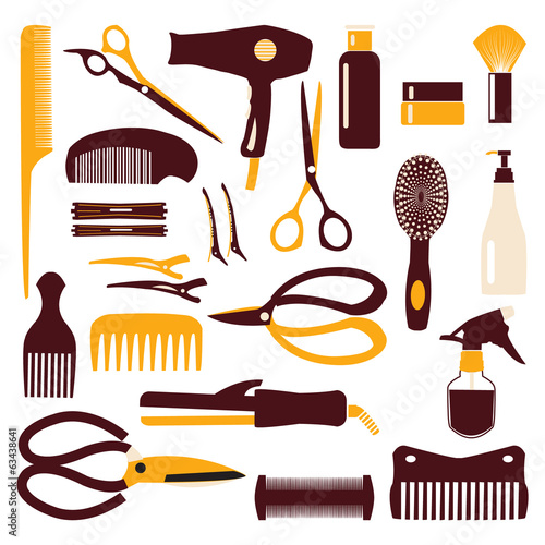 Set of haircutting tool - Illustration