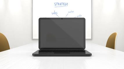 laptop business presentation