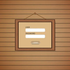Picture frame Web login form template.