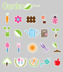 Gardening color icon vector