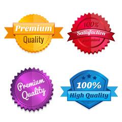 Set of product offer emblems