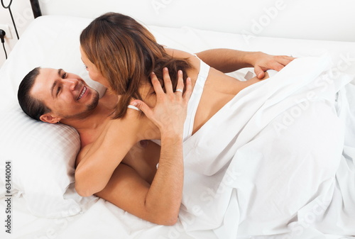 Adult couple having sex
