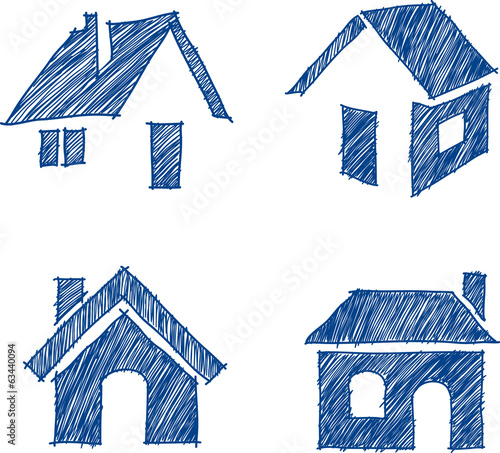 house hand drawn