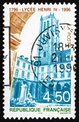 Postage stamp France 1996 Henry IV High School, Paris