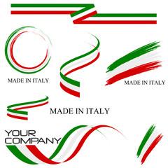 Serie nastri Italy Vector