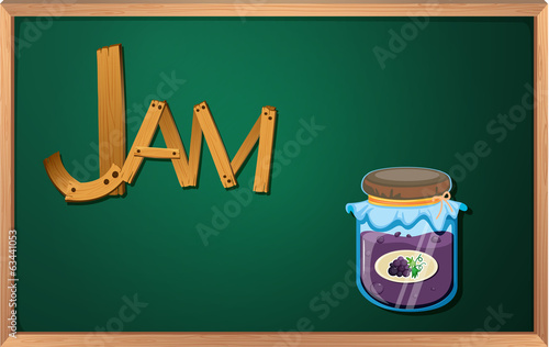 A blackboard with a jam